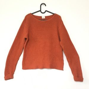 Vintage cotton chunky knit relaxed soft sweater